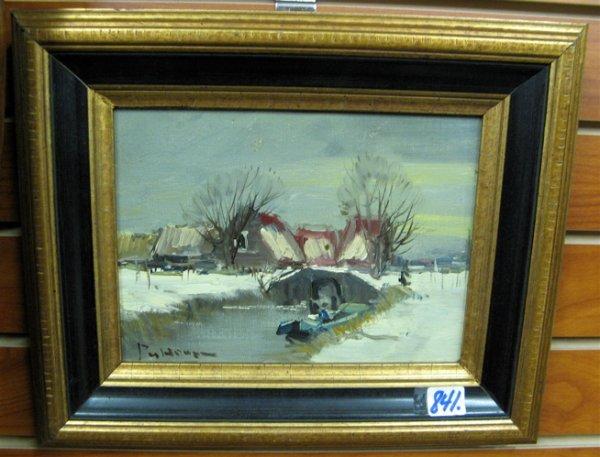 841: PETER VAN HUME OIL ON WOOD PANEL  (Dutch, 20th cen