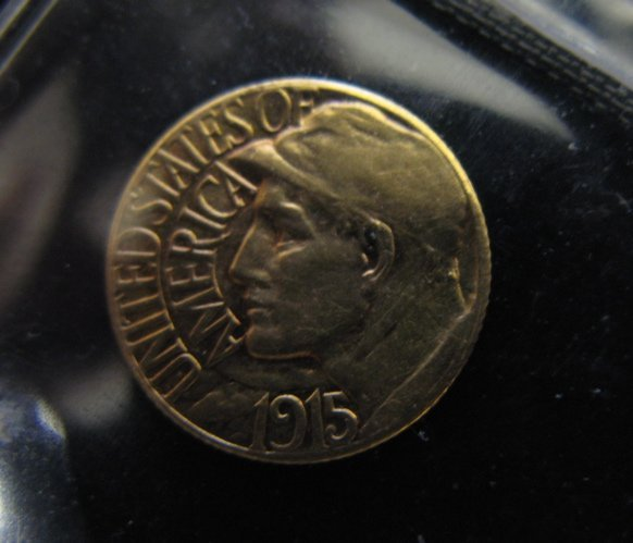 1: U.S. COMMEMORATIVE ONE DOLLAR GOLD COIN, 1915-S  Pan