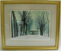 193 ROBERT WILLIAM ADDISON SERIGRAPH  American 20th