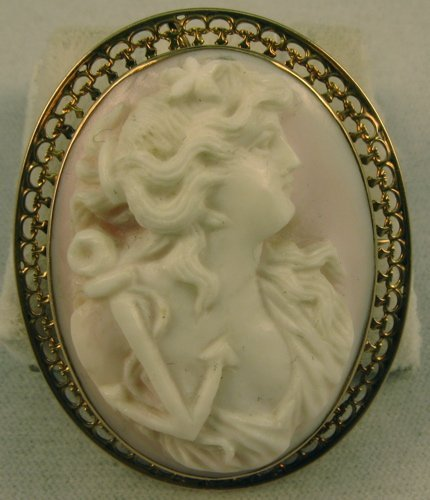 305: VICTORIAN CAMEO PENDANT/BROOCH. The oval shell  ca