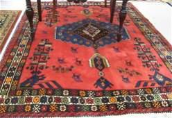310 PERSIAN SIRJAN AREA RUG Kerman province hand  kn