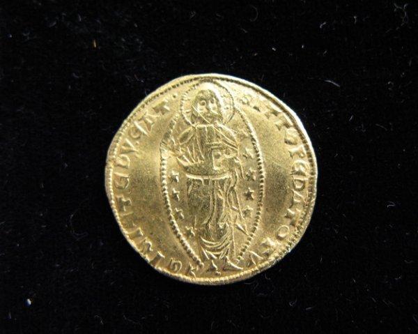 602: FIFTEENTH CENTURY ITALIAN RENAISSANCE GOLD DUCAT,