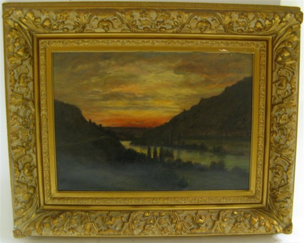 620: FRENCH OIL ON CANVAS, 19th century  Landscape with
