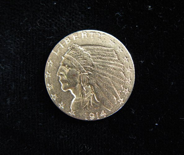 624: U.S. TWO AND ONE-HALF DOLLAR GOLD COIN, Indian  he