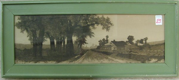 23: ERNEST C. ROST ETCHING AND DRYPOINT  (American, 19t
