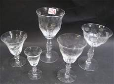 0111A AMERICAN CUT CRYSTAL DRINKS SET 52 pieces clea