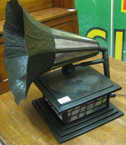 "259: ""VICTROLA PHONOGRAPH"" TABLE LAMP, American, 20th c"