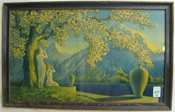 303: TWO 1920'S COLOR PRINTS IN ORIGINAL WOOD FRAMES: t