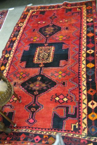 308: PERSIAN KURDISH TRIBAL AREA RUG, hand knotted in a