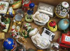 377: COLLECTION OF 31 MINIATURE PORCELAIN BOXES, et  al