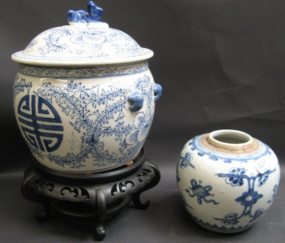 611: SEVEN CHINESE BLUE AND WHITE PORCELAINS