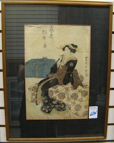 624: TOYOKUNI II (TOYOSHIGE) COLOR WOODCUT  (Japan, 177