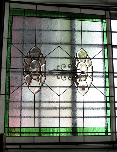 4:  AMERICAN HAND CRAFTED STAINED GLASS WINDOW