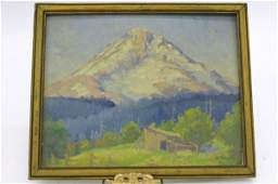 13: PERCY L. MANSER OIL CARDBOARD  (Oregon 1886-1973)