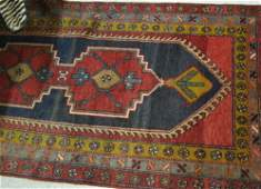 178 TWO SEMIANTIQUE PERSIAN AREA RUGS 33 x 64  A
