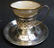 289 GORHAM STERLING  LENOX PORCELAIN DEMITASSE CUPS3