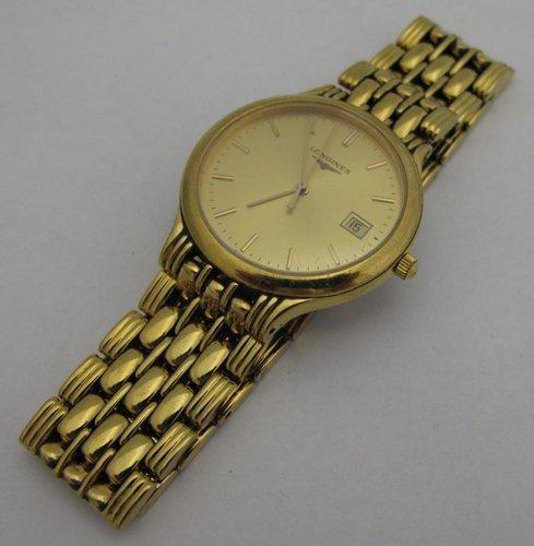 307: MAN'S LONGINES WRISTWATCH, model L5.649.2, gold  d