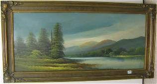 553: OIL ON PANEL ATTRIBUTED TO ROBERT W. WOOD