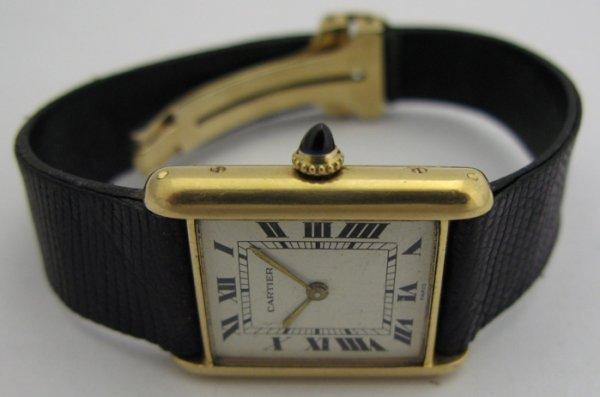 608: CARTIER TANK WRISTWATCH, with 27mm Cartier s