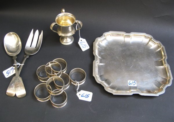615: COLLECTION OF 12 AMERICAN STERLING SILVER ITEMS: I
