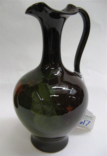 617: LOUWELSA WELLER AMERICAN ART POTTERY EWER/VASE,  h