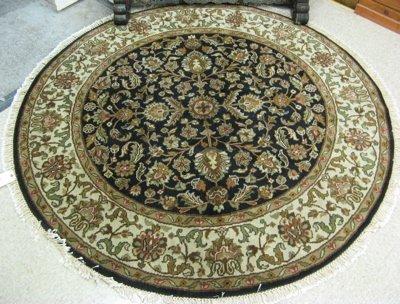 20: ROUND ORIENTAL AREA RUG, Persian Kashan design  of