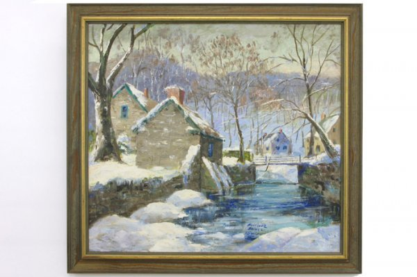 22: FLORENCE PRINCE EWING OIL ON CANVAS  (American, 189