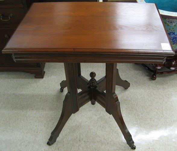 25: VICTORIAN LAMP TABLE, Eastlake type, American,  c.