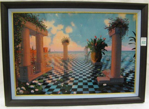 "312: LOREN D. ADAMS COLOR PRINT titled ""Early Morning B"