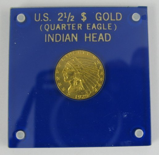 7: U.S. TWO AND ONE-HALF DOLLAR GOLD COIN, Indian  head