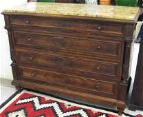 148 MARBLETOPPED ROSEWOOD CHEST OF DRAWERS  Renaissa
