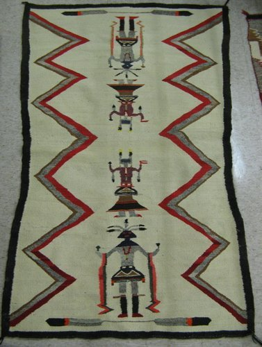 "274: TWO NAVAJO AREA RUGS, 2'8"" x 3'8"" and 2'10"" x  4'8"