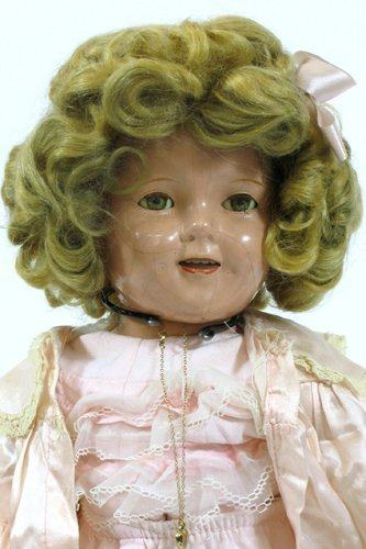 """301: IDEAL SHIRLEY TEMPLE DOLL, 18"""" H.  All  compositio"""