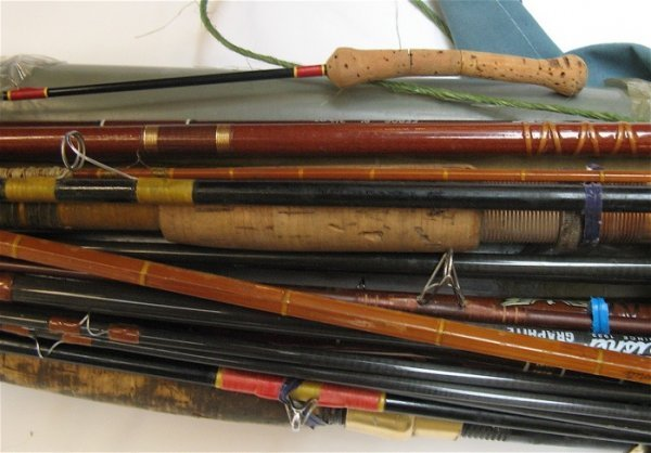 314: COLLECTION OF APPROXIMATELY TWELVE FISHING POLES: