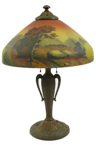 617: AN AMERICAN TABLE LAMP, c. 1920-30. The reverse  t