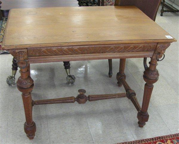 762: LOUIS XVI STYLE OAK LIBRARY TABLE, Continental,  l