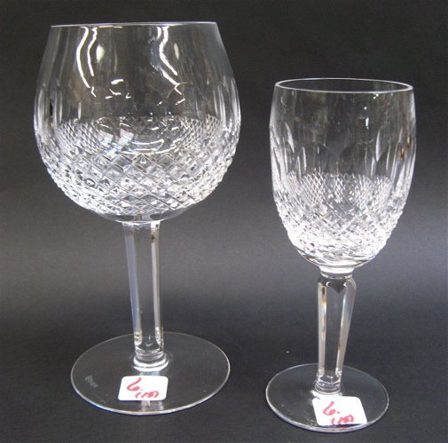 6: WATERFORD CRYSTAL, FIFTEEN PIECES in a pattern  simi