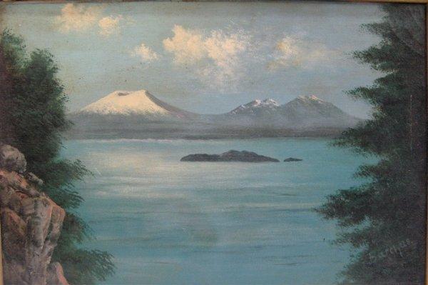 """22: ELIZA R. BARCHUS OIL ON CANVAS  (""""the Oregon artist"""