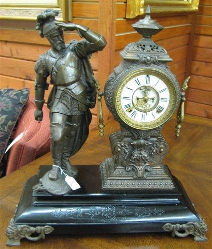 25: ANSONIA STATUE CLOCK, Ansonia Clock Co., late  19th