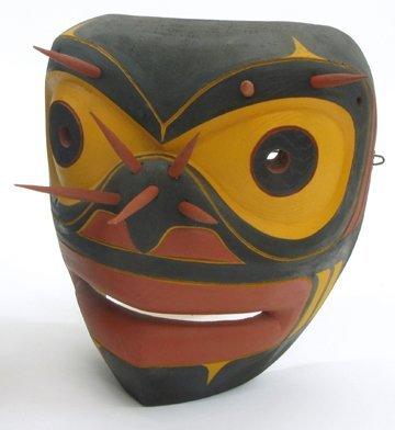 """26: KWAKWAKA'WAKW SPIRIT MASK of the northwest coast, """""""