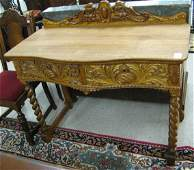 108: LATE VICTORIAN OAK DRESSING TABLE, American, c.  1