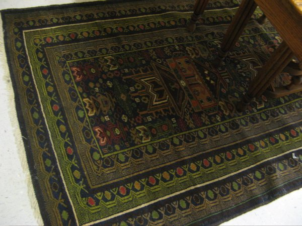319: BELOUCH TRIBAL AREA RUG, overall geometric  design