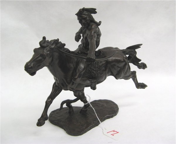 "17: JOHN WEAVER BRONZE titled ""Indian Hunter""  (America"