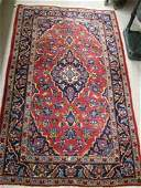 274 TWO PERSIAN HAND KNOTTED WOOL AREA RUGS 32 X  5