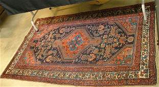 TWO SEMI-ANTIQUE PERSIAN TRIBAL AREA RUGS, each  c