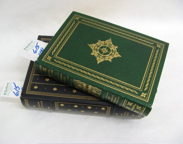 615: FIFTEEN LEATHER BOUND BOOKS, each with gilt  stamp