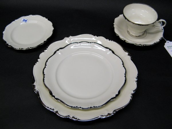 704: GERMAN ROSENTHAL FINE CHINA SET, 90 pieces, in  th
