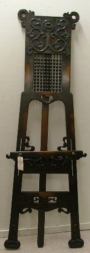 18: LATE VICTORIAN WALNUT PAINTING EASEL, American,  ea