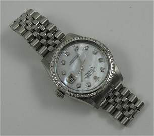 86: ROLEX OYSTER PERPETUAL DATEJUST MAN'S WRISTWATCH, m