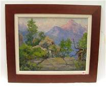 194: FRANCIS HARVEY CUTTING oil on canvas board (Campb